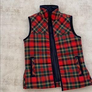 J. Crew holiday plaid vest
